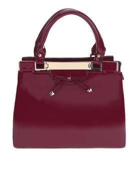 Burgundy handbag Gionne Ariadne