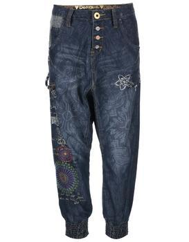 Patterned blue jeans with a reduced seven Desigual Turko Galactic