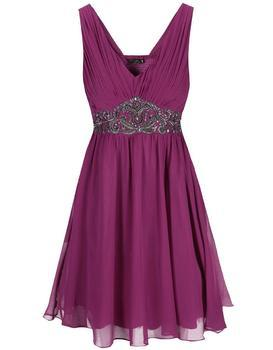 Pink dress with decorative waist Dorothy Perkins