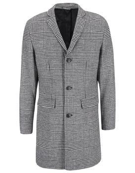 Black-and-white coat with a pattern glen plaid Jack & Jones Abalon