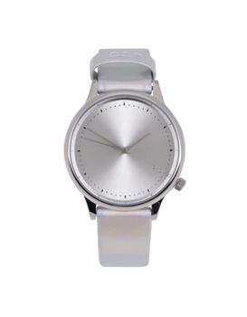 Unisex hodinky ve stříbrné barvě s holografickým efektem Komono Estelle Iridiscent