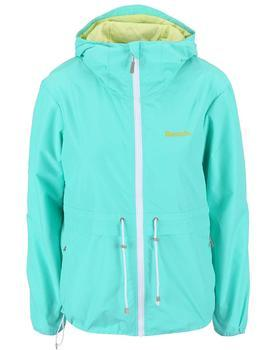 Turquoise ladies waterproof jacket with hood Bench Profitability