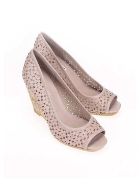 Pink leather heels to wedges Dune London Cassie