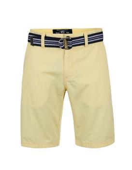 Yellow men's shorts with belt Broadway Ivan