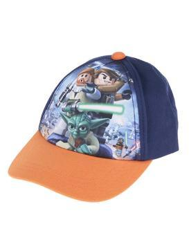 Orange-blue boyish cap imprinted with Star Wars LEGO wear Carlos