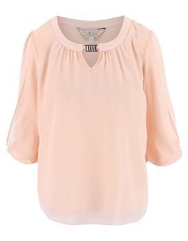 Light pink blouse with a neckline applications Dorothy Perkins