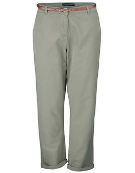 Khaki chino pants with belt Dorothy Perkins