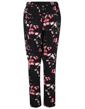 Černé kalhoty s květinami Vero Moda Super