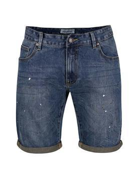 Blue denim shorts with pocákaným effect Shine Original Wardell