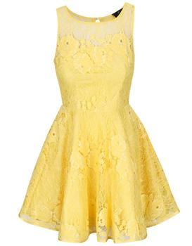 Yellow lace dress AX Paris