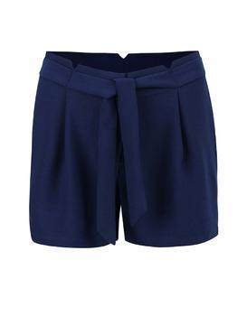 Dark blue shorts with sewn-in belt Vero Moda Garry