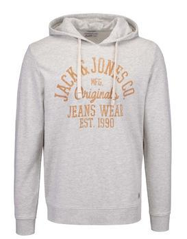Beige sweatshirt imprinted with Jack & Jones Sakis