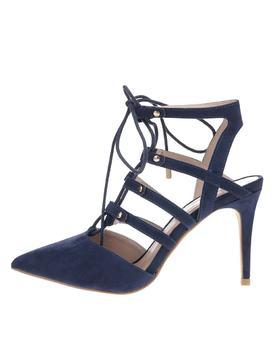 Dark blue sandals in suede adjustment Dorothy Perkins