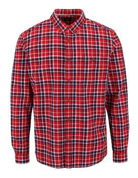 Modro-červená károvaná košile Burton Menswear London