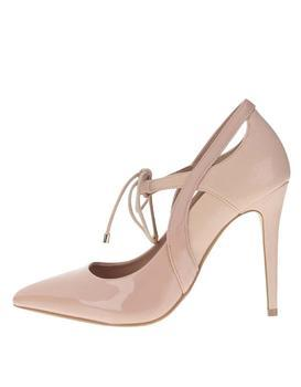 Powder pink high heels with shiny details Dorothy Perkins