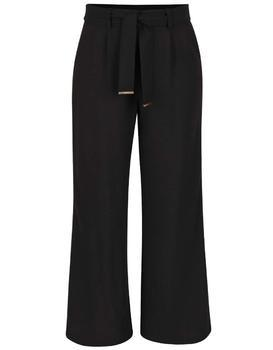 Black baggy pants with belt Dorothy Perkins