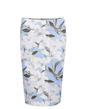 Blue flowered skirt Miss Selfridge