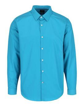 Turquoise formal slim fit shirt Burton Menswear London