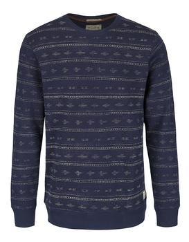 Blue patterned sweatshirt Jack & Jones Austin