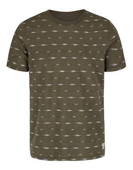 Olive green patterned shirt Jack & Jones, Steve