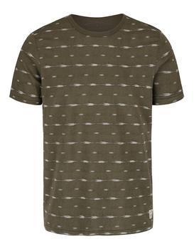 Olivovo zelenej vzorované tričko Jack & Jones Steve