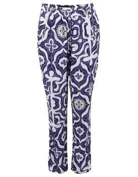 White-blue slacks Carmin Desigual