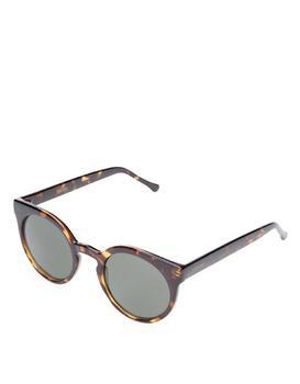 Brown women's sunglasses with patterned rimmed Komono Lulu