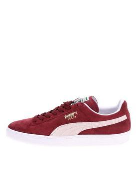 Creamy burgundy leather men sneakers Puma Suede Classic +