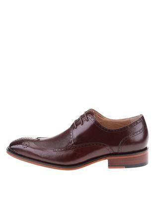 Burgundy-brown leather shoes Dice Harris - 1