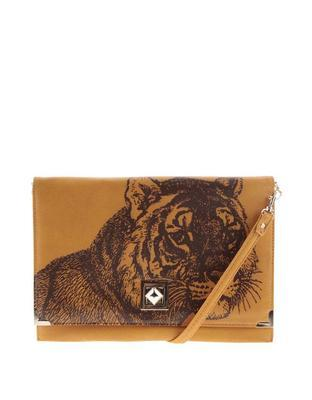 Mustard vintage love letter with a tiger Disaster Bohemia - 1