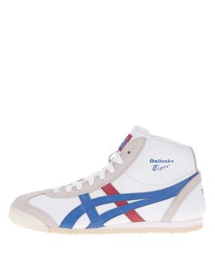 White unisex leather ankle sneakers Onitsuka Tiger Mexico Mid Runner - 1