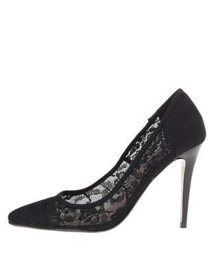 Black lace heeled pumps Dorothy Perkins Emie - 1