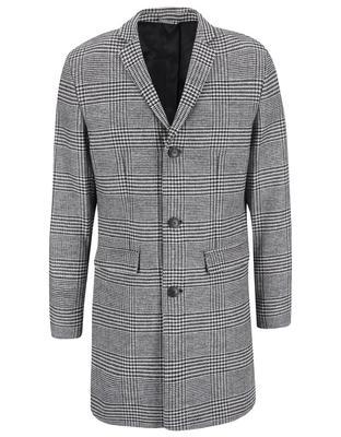 Black-and-white coat with a pattern glen plaid Jack & Jones Abalon - 1
