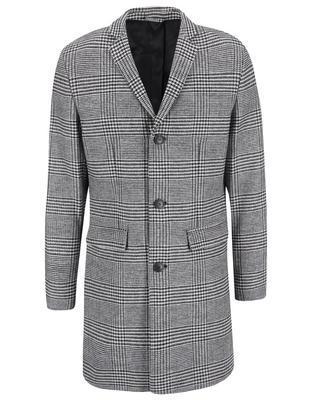 Čierno-biely kabát so vzorom glenček Jack & Jones Abalon - 1