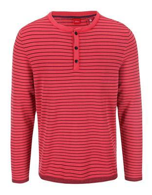 Red men's striped sweater s.Oliver - 1