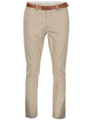 Beige slim trousers with belt Selected Yard - 1