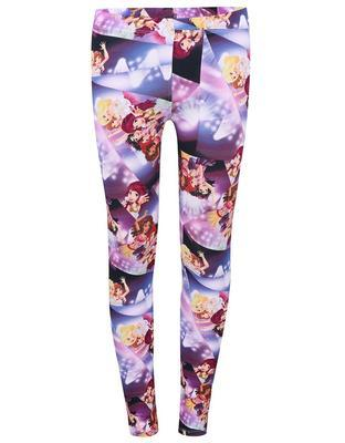 Purple girl over print leggings LEGO wear Porta - 1