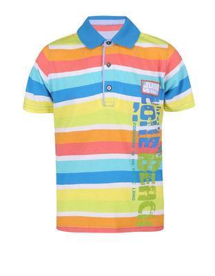 Farebné pruhované chlapčenskú polo triko Boboli - 1