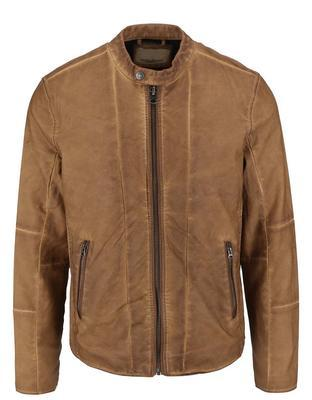 Light brown leatherette jacket Shine Original Travis - 1