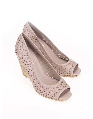 Pink leather heels to wedges Dune London Cassie - 1