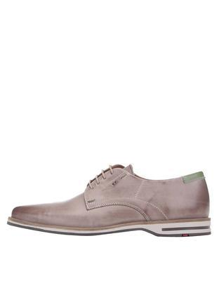Grey men's leather shoes Lloyd Denia - 1