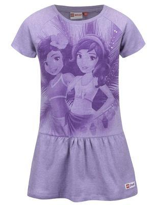 Purple girly dresses printed with LEGO wear - 1
