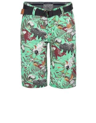 Green boys' shorts with birds Cars Jeans Sangro - 1