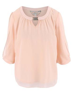 Light pink blouse with a neckline applications Dorothy Perkins - 1