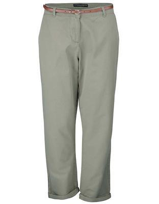 Khaki chino pants with belt Dorothy Perkins - 1
