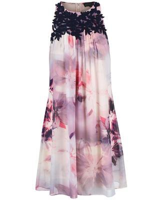 Flowered dress with blue embroidery Dorothy Perkins - 1