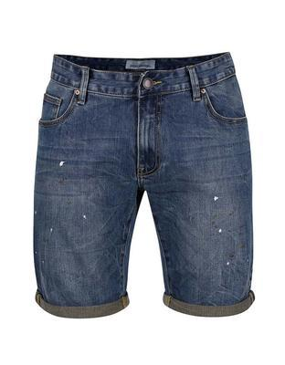 Blue denim shorts with pocákaným effect Shine Original Wardell - 1
