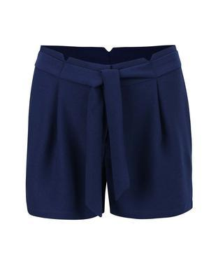 Dark blue shorts with sewn-in belt Vero Moda Garry - 1