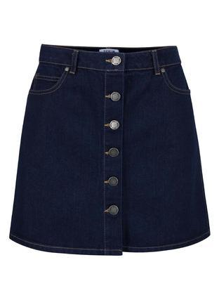 Dark blue denim skirt Miss Selfridge - 1