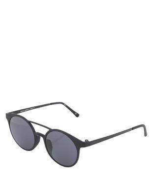 Černé matné unisex sluneční brýle Le Specs Demo Mode - 1